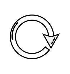 line arrow circle sign loading progress vector image