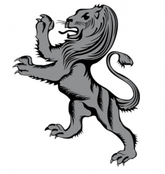 lion herald vector image vector image