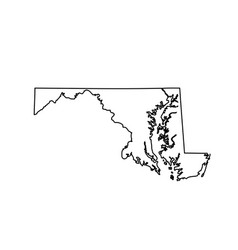 Map of the us state maryland vector