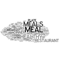 Meals word cloud concept vector