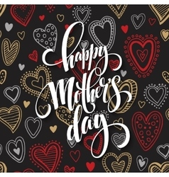 Mothers Day greeting card Hand drawn vector image