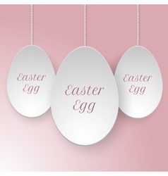 paper easter egg template vector image vector image