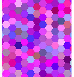 Pink colorful hexagon mosaic background design vector