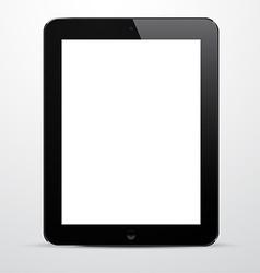 Realistic black tablet pc vector