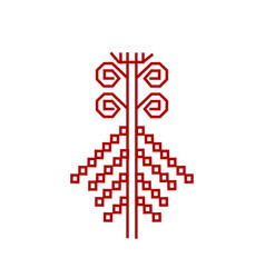 Red element of design finnish ornament vector