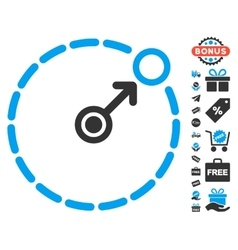 Round area border icon with free bonus vector