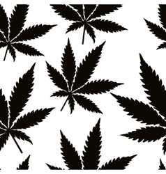 Seamless marijuana leaves vector