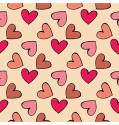 Seamless pattern hearts vector
