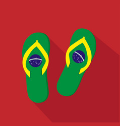 slippers flat cartoon icon brazil vector image vector image