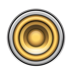 Sound-system speaker icon over white vector