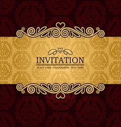 Vintage background antique victorian ornament vector image vector image