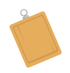 Wooden board with hanger vector
