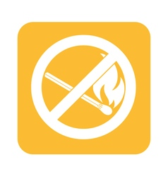 No matches prohibition icon vector