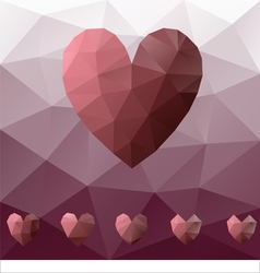 Low poly heart vector