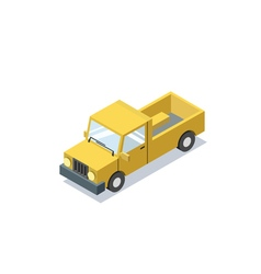Isometric blue wagon car minivan trucks for cargo vector