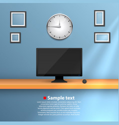wall with a computer vector image