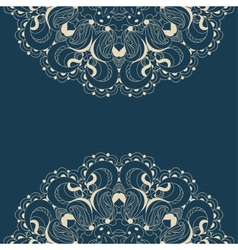 Beautiful blue lace pattern background vector image