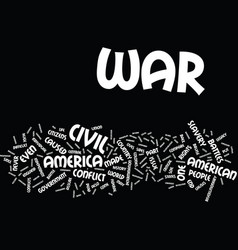 The civil war text background word cloud concept vector
