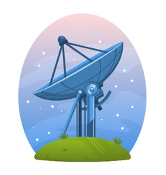 Radio telescope vector