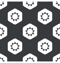 Black hexagon sun pattern vector