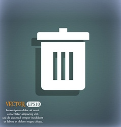 Recycle bin reuse or reduce icon symbol on the vector