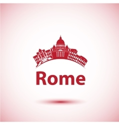 Silhouette of rome city skyline vector