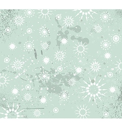 Christmas Vintage Background with drops snowflakes vector image