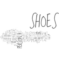 a person s shoes and his character text word vector image