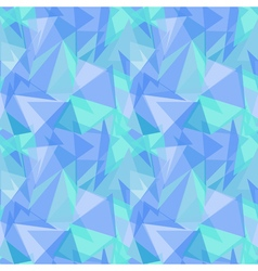 Abstract polygonal blue triangular seamless vector