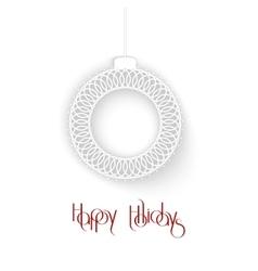 Abstract White Ornamental Christmas Ball creative vector image vector image