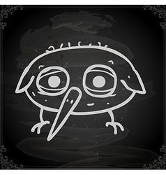 Bird drawing on chalk board vector