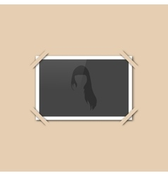 Blank retro photo vector image
