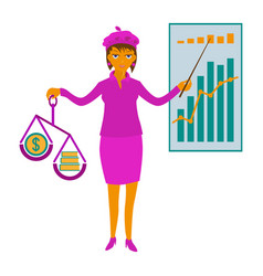 business woman showing presentation vector image
