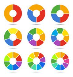 circle segments set vector image