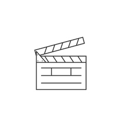 Clapper board line icon vector