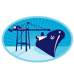 container boom crane vector image