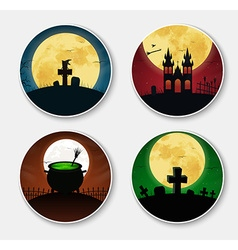 Design stickers icons on halloween vector