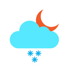 flat color snow rain icon vector image vector image