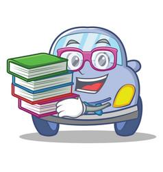 geek cute car character cartoon vector image vector image