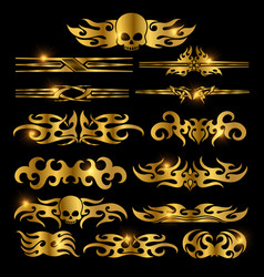 golden racing car decoration vector image vector image