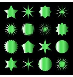 Green stars vector
