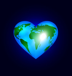 heart of the world vector image vector image