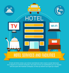 Hotel services and facilities vector