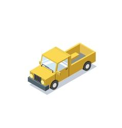 Isometric blue wagon car minivan trucks for cargo vector