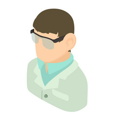 Laboratory assistant icon isometric 3d style vector