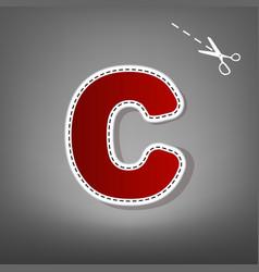 Letter c sign design template element red vector