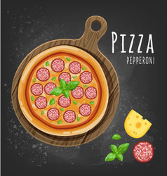 Pizza pepperoni vector