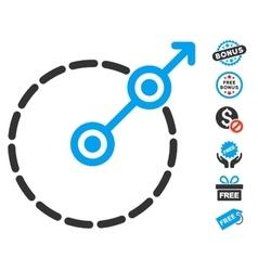Round area exit icon with free bonus vector
