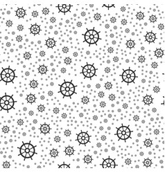 Rudder seamless pattern vector
