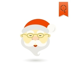 Santa Claus Head vector image